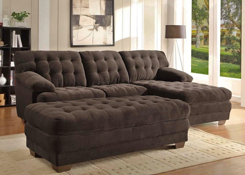 Chocolate Microfiber Sectional Sofa Intended For Microfiber Sectional Sofas (View 3 of 20)