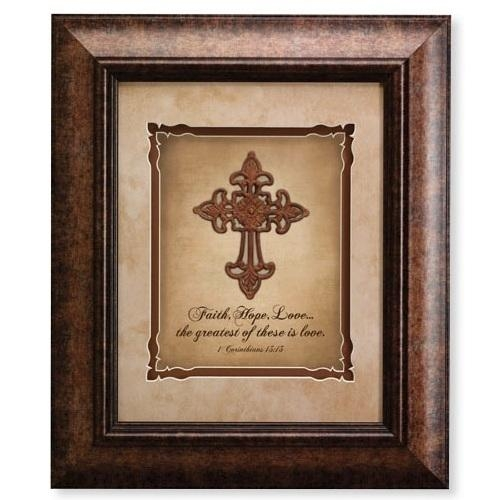 Christian Framed Wall Art  Religious Wall Art | Berean Baskets Regarding Metal Framed Wall Art (Image 6 of 20)