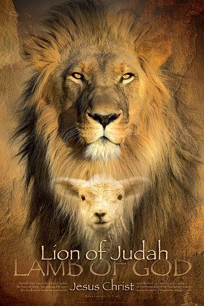 Christian Wall Art: Lion Of Judah, Lamb Of God | Lifeposters With Regard To Large Christian Wall Art (Photo 8 of 20)
