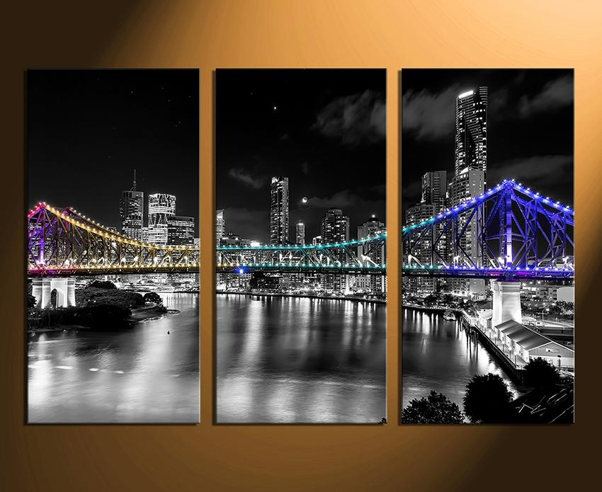 Cityscape Wall Art Luxury Canvas Wall Art On 3D Wall Art – Home With Cityscape Canvas Wall Art (Image 9 of 20)