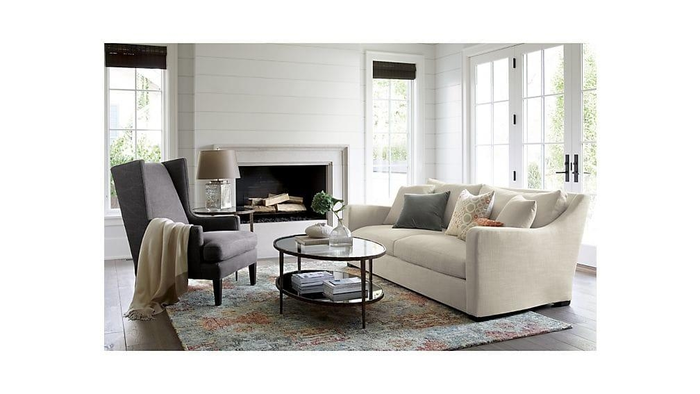 Clairemont Oval Coffee Table | Crate And Barrel Inside Crate And Barrel Sofa Tables (Image 6 of 20)