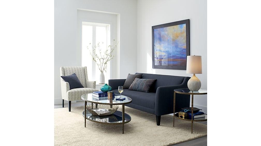 Clairemont Round Side Table | Crate And Barrel In Crate And Barrel Sofa Tables (View 13 of 20)
