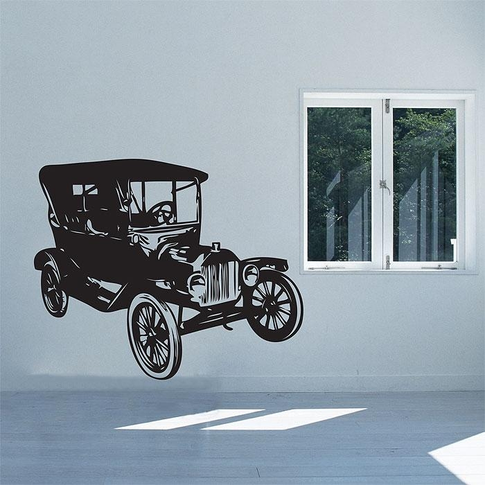 Classic Car Vinyl Wall Art Decal Pertaining To Classic Car Wall Art (Image 8 of 20)