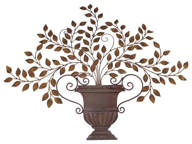 Classic Olive Leaf Urn Wall Art, Mediterranean Plaque Tuscan Greek Inside Greek Wall Art (Image 8 of 20)