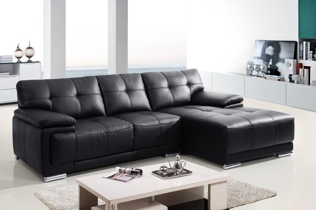 Classic Small Sectional Leather Sofas For Small Spaces – S3Net Inside Small Black Sofas (Image 6 of 20)