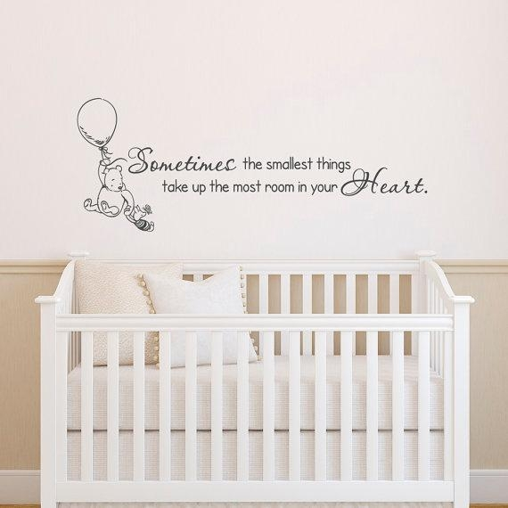 Classic Winnie The Pooh Wall Decals Quotes Sometimes The Throughout Winnie The Pooh Wall Art For Nursery (Image 10 of 20)