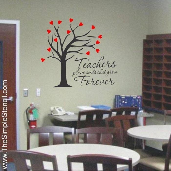 Classroom Decorating Ideas | Teachers Custom Vinyl Lettering With Classroom Vinyl Wall Art (Image 14 of 20)