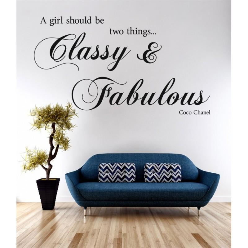 Classy & Fabulous Coco Chanel Wall Art Sticker Quote Decal The Intended For Coco Chanel Wall Stickers (View 19 of 20)