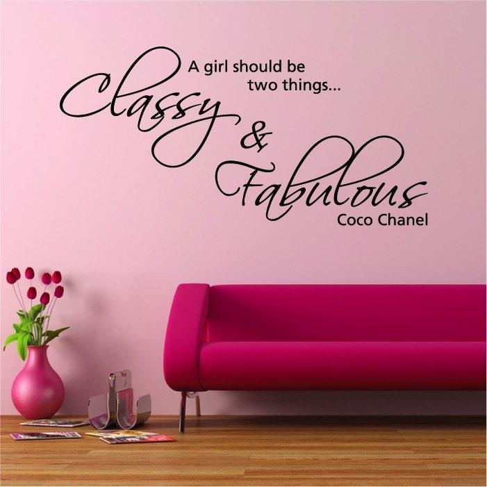 Classy Fabulous Coco Chanel Wall Sticker | Loveabode For Coco Chanel Wall Stickers (View 7 of 20)