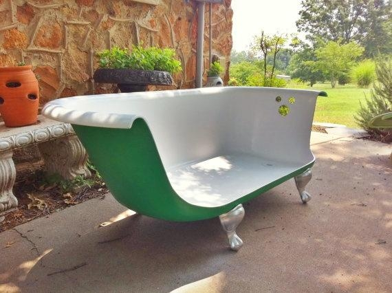 Claw Foot Tub Made Into A Couch. Www.petalsofwytheville | In In Clawfoot Tub Sofas (Photo 13 of 20)