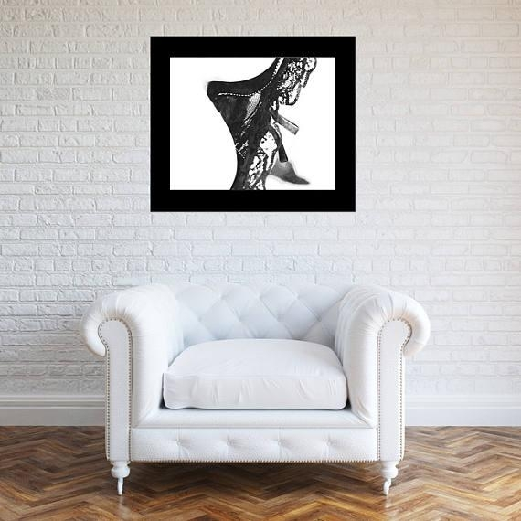Cleavage Wall Art Sensual Prints Corset Poster Erotic Regarding Sensual Wall Art (Image 8 of 20)