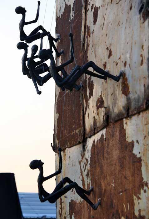 Climbing Man Wall Sculpture For Sale – Worldwide Shipping Throughout Outdoor Wall Sculpture Art (View 11 of 20)