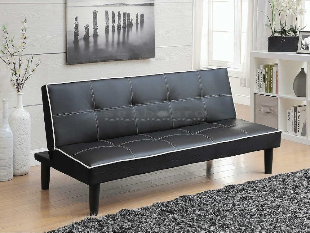 Coaster 550044 Black Retro Sofa Bed Futon Regarding Small Black Futon Sofa Beds (Image 12 of 20)