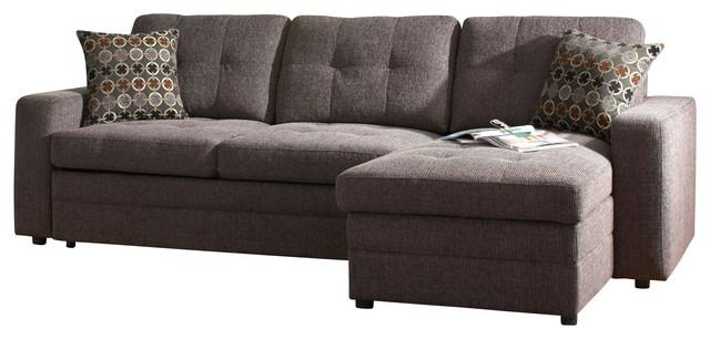 Coaster Gus Chenille Sectional Sofa, Charcoal/black – Contemporary For Coaster Sectional Sofas (View 2 of 20)