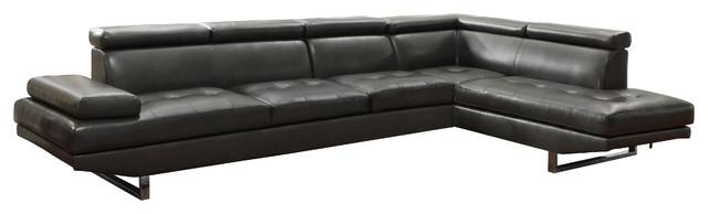 Coaster Piper Sectional, Charcoal – Contemporary – Sectional Sofas Inside Coaster Sectional Sofas (Image 5 of 20)