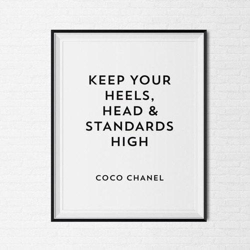 Coco Chanel Frame Quote Tumblr Pintrest Quote Typographic Throughout Coco Chanel Quotes Framed Wall Art (View 3 of 20)