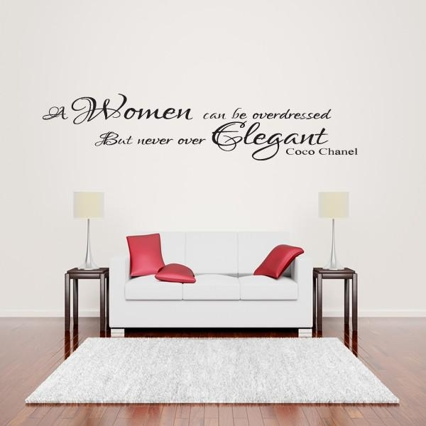 Coco Chanel Women Elegant Wall Art Quote Sticker – Lounge Bedroom Intended For Coco Chanel Wall Stickers (View 16 of 20)