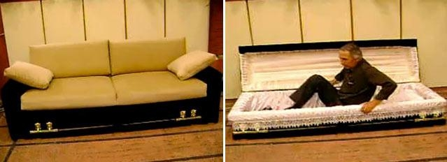 Coffin That Turns Into A Couch? Hey, It's Your Funeral [Video] With Coffin Sofas (Image 13 of 20)