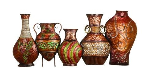 Colorful African Vases Pottery Metal Wall Art 17 X 38 Moroccan Pertaining To African Metal Wall Art (Image 13 of 20)