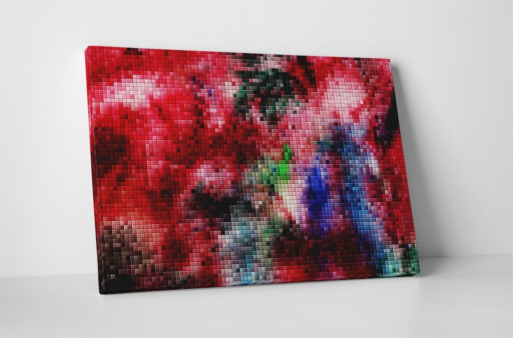 Colorful Pixel Mosaic Canvas Wall Art Intended For Pixel Mosaic Wall Art (Image 6 of 20)