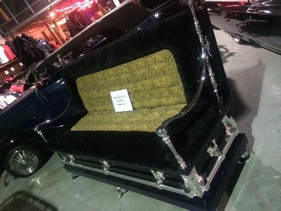 Come See The Count's Coffin Couch And All Of His Classic Cars At Throughout Coffin Sofas (Image 14 of 20)