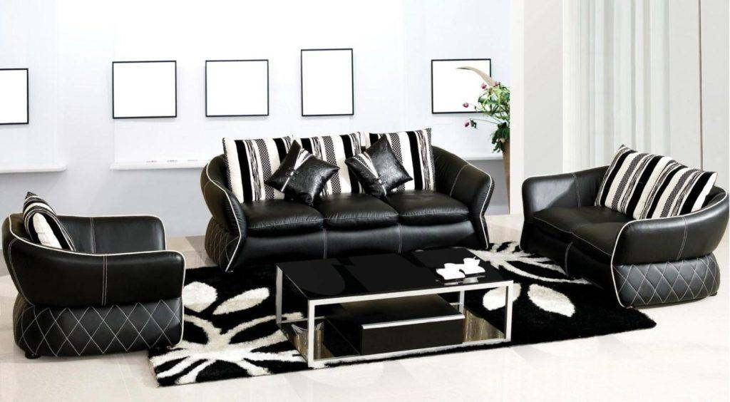 Comfort With Black And White Leather Sofa | Eva Furniture Intended For Black And White Leather Sofas (Image 12 of 20)