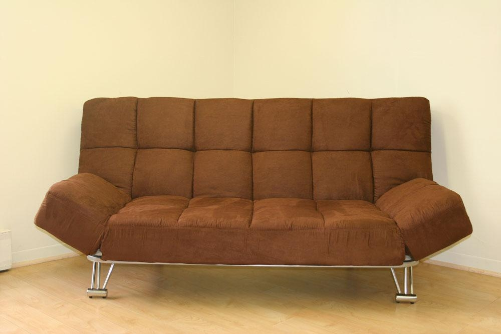 Comfortable Futon Sofa Bed | Roselawnlutheran Inside Microsuede Sofa Beds (Image 5 of 20)