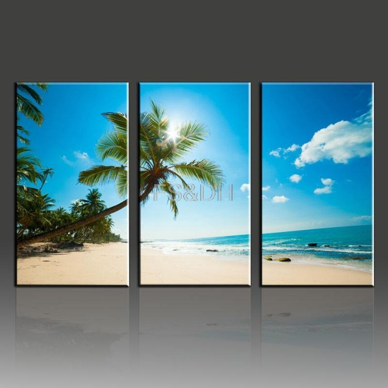 Compare Prices On 3 Piece Beach Wall Art Online Shopping/buy Low Regarding 3 Piece Wall Art Sets (View 18 of 20)