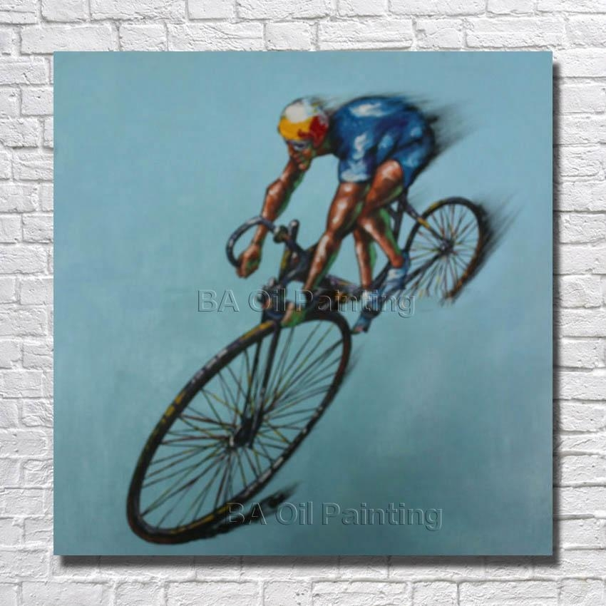 Compare Prices On Bicycle Canvas Art  Online Shopping/buy Low In Cycling Wall Art (Image 10 of 20)