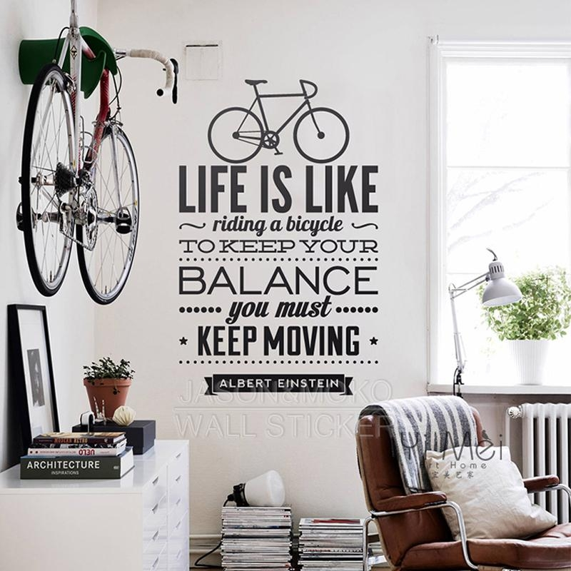 Compare Prices On Bicycle Wall Quotes  Online Shopping/buy Low With Regard To Cycling Wall Art (Image 11 of 20)