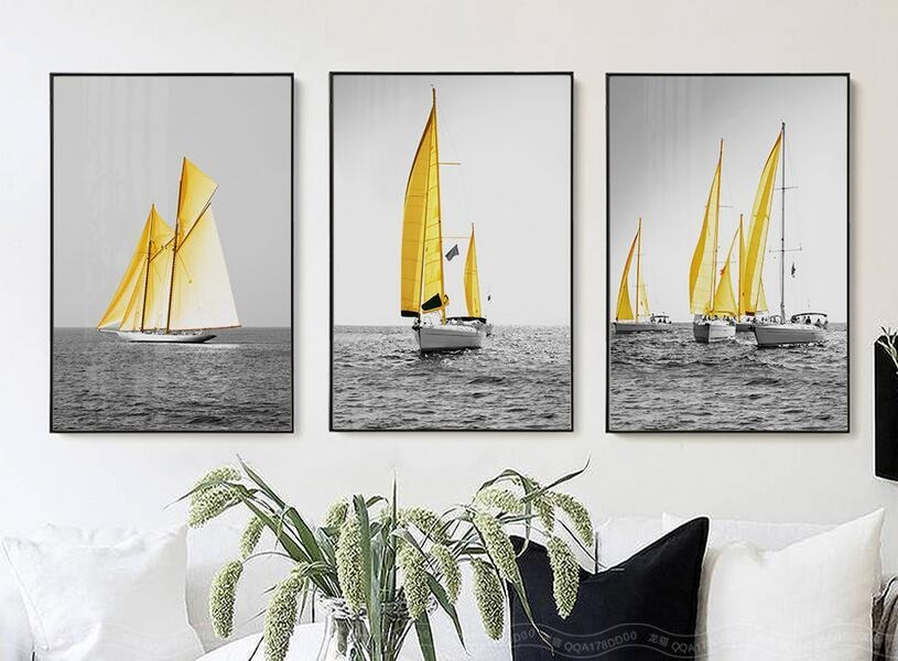 Compare Prices On Boat Canvas Wall Art Online Shopping/buy Low Pertaining To Boat Wall Art (View 15 of 20)