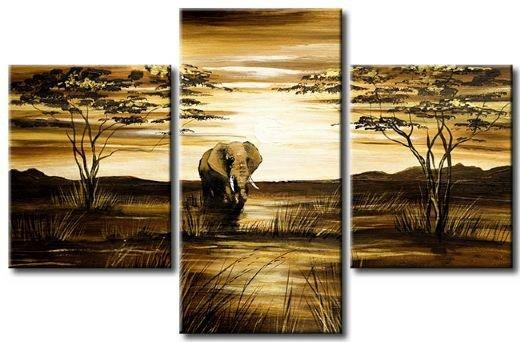 Compare Prices On Canvas 3 Piece Paintings African  Online In Multiple Piece Canvas Wall Art (Image 6 of 20)