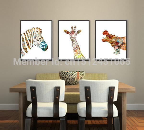 Compare Prices On Canvas Art Zebra Online Shopping/buy Low Price Within Zebra Wall Art Canvas (View 20 of 20)
