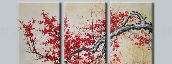 Compare Prices On Cherry Blossom Abstract  Online Shopping/buy Low Throughout Red Cherry Blossom Wall Art (Image 11 of 20)