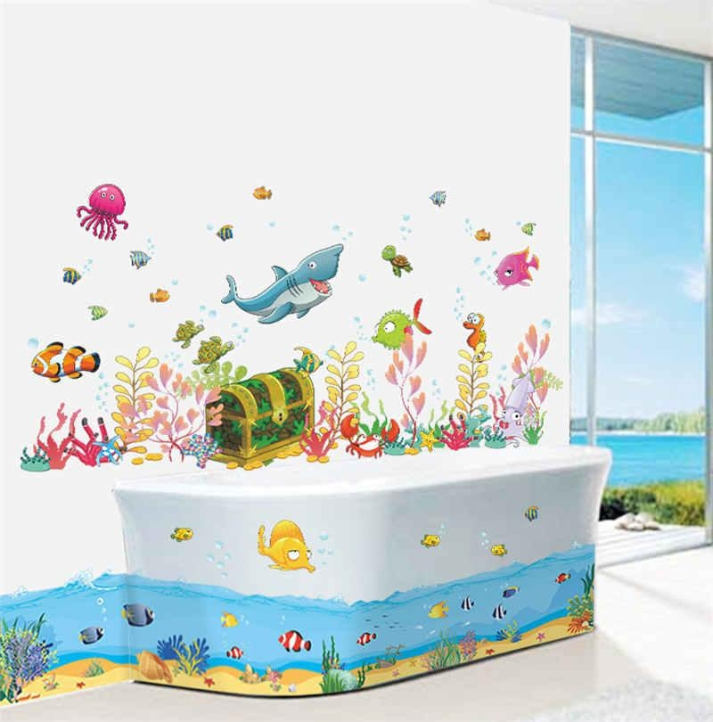 Compare Prices On Decorate Kids Bathroom Online Shopping/buy Low For Fish Decals For Bathroom (View 7 of 20)