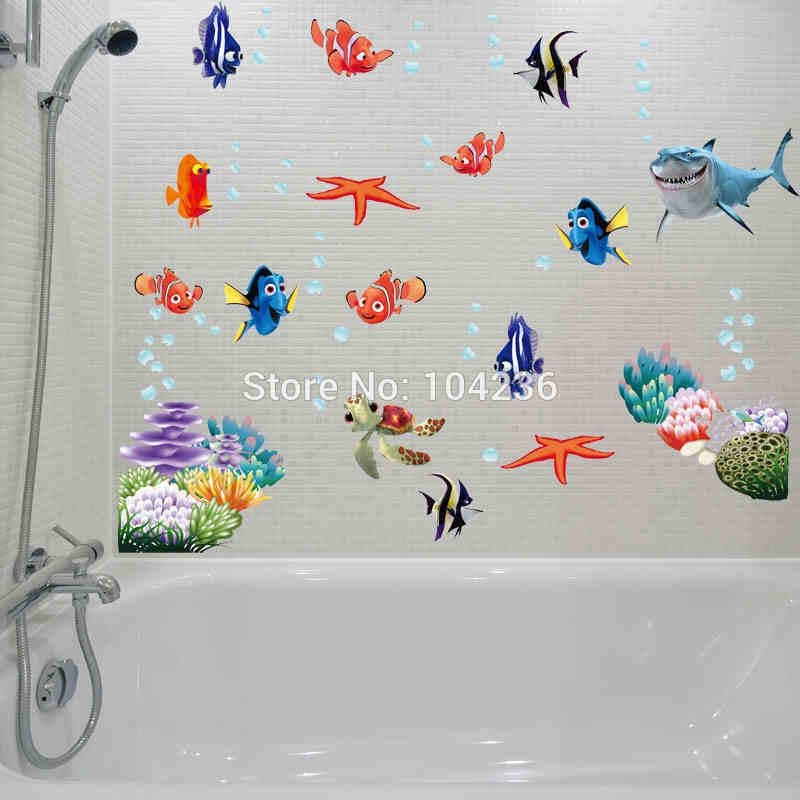 Compare Prices On Fish Decal Online Shopping/buy Low Price Fish Within Fish Decals For Bathroom (View 16 of 20)