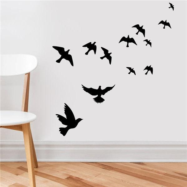 Compare Prices On Flying Wall Birds  Online Shopping/buy Low Price Intended For Flock Of Birds Wall Art (Image 7 of 20)