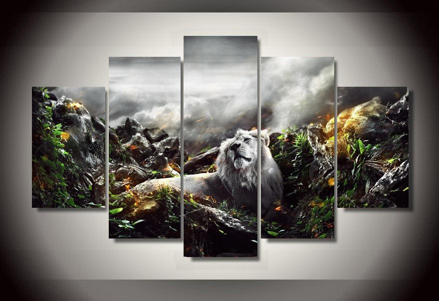 Compare Prices On Jungle Canvas Wall Art  Online Shopping/buy Low Within Jungle Canvas Wall Art (Image 6 of 20)
