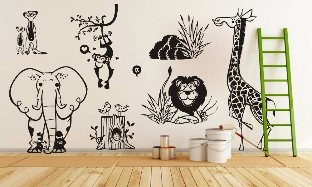 Compare Prices On Jungle Wall Art  Online Shopping/buy Low Price For Animal Wall Art (Image 14 of 20)