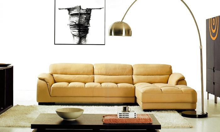 Compare Prices On L Sofa Leather  Online Shopping/buy Low Price L Intended For Euro Sofas (Image 7 of 20)
