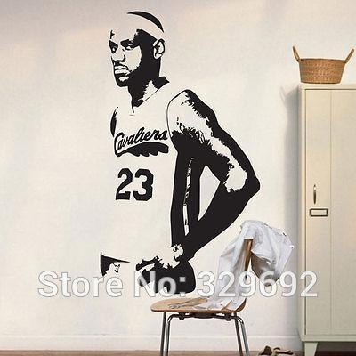 Compare Prices On Nba Decals  Online Shopping/buy Low Price Nba With Nba Wall Murals (Image 7 of 20)