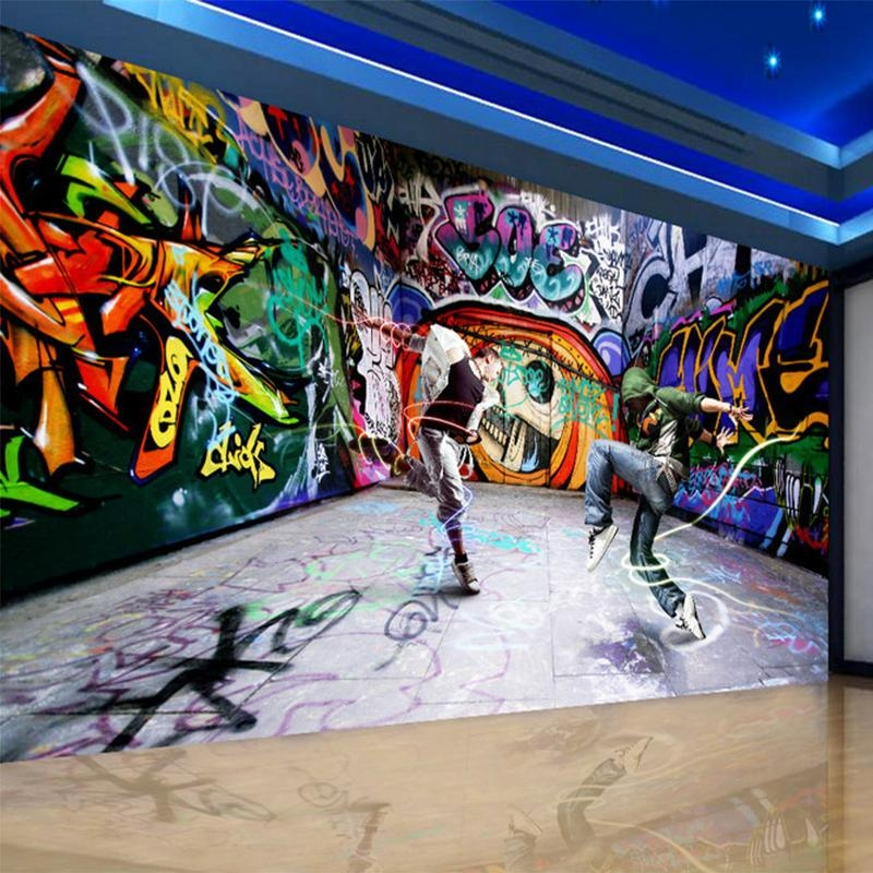 Compare Prices On Personalized Graffiti Wall Art  Online Shopping Intended For Personalized Graffiti Wall Art (Image 3 of 20)