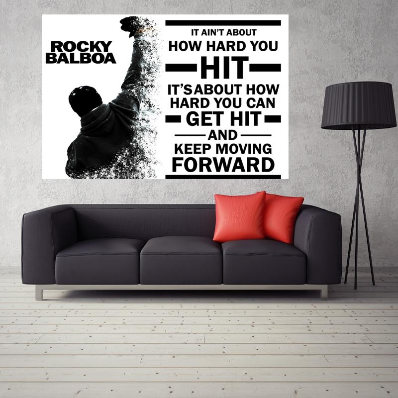 Compare Prices On Rocky Balboa Wall Art Online Shopping/buy Low In Rocky Balboa Wall Art (View 9 of 20)