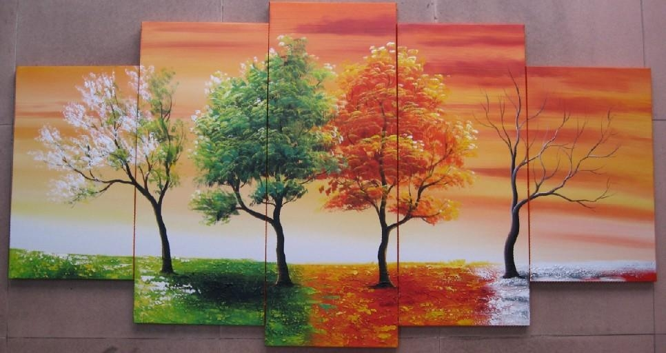 Compare Prices On Seasonal Tree Painting Online Shopping/buy Low With Seasonal Wall Art (View 12 of 20)