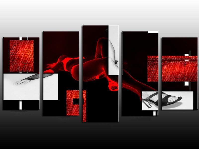 Compare Prices On Wall Art Black And White And Red Sexy  Online With Regard To Black And White Wall Art With Red (Image 13 of 20)