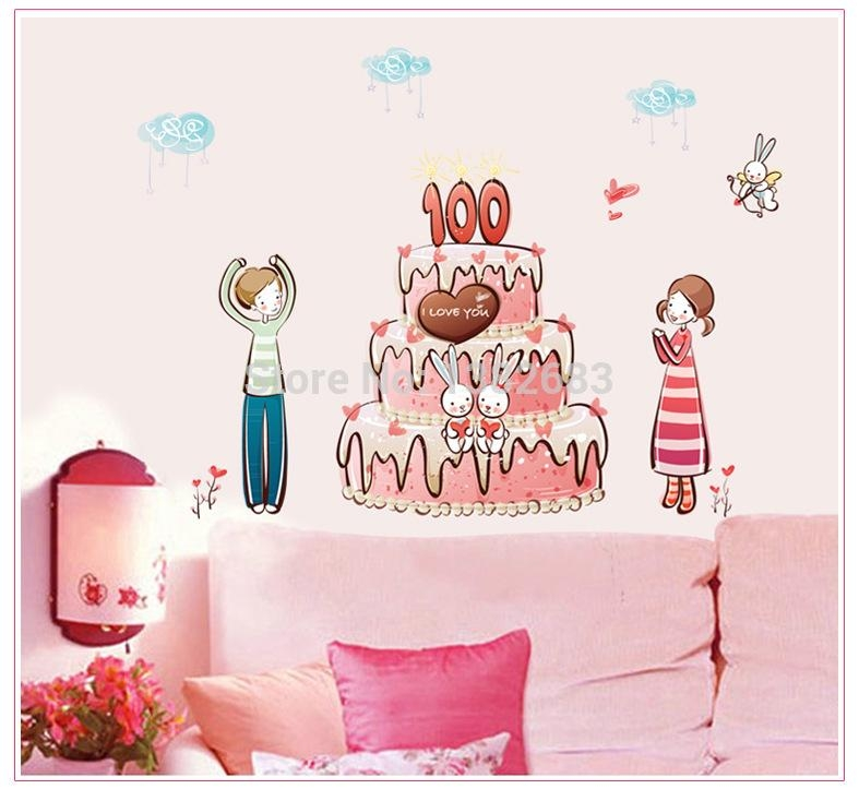 Compare Prices On Wall Mural Happy Birthday  Online Shopping/buy Within Happy Birthday Wall Art (Image 10 of 20)