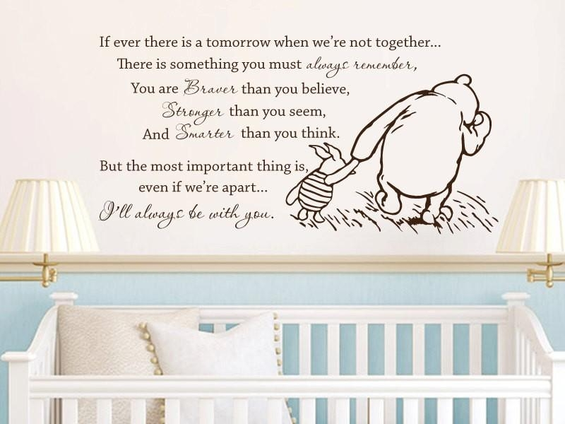 Compare Prices On Winnie Pooh Quotes  Online Shopping/buy Low With Regard To Winnie The Pooh Vinyl Wall Art (Image 11 of 20)