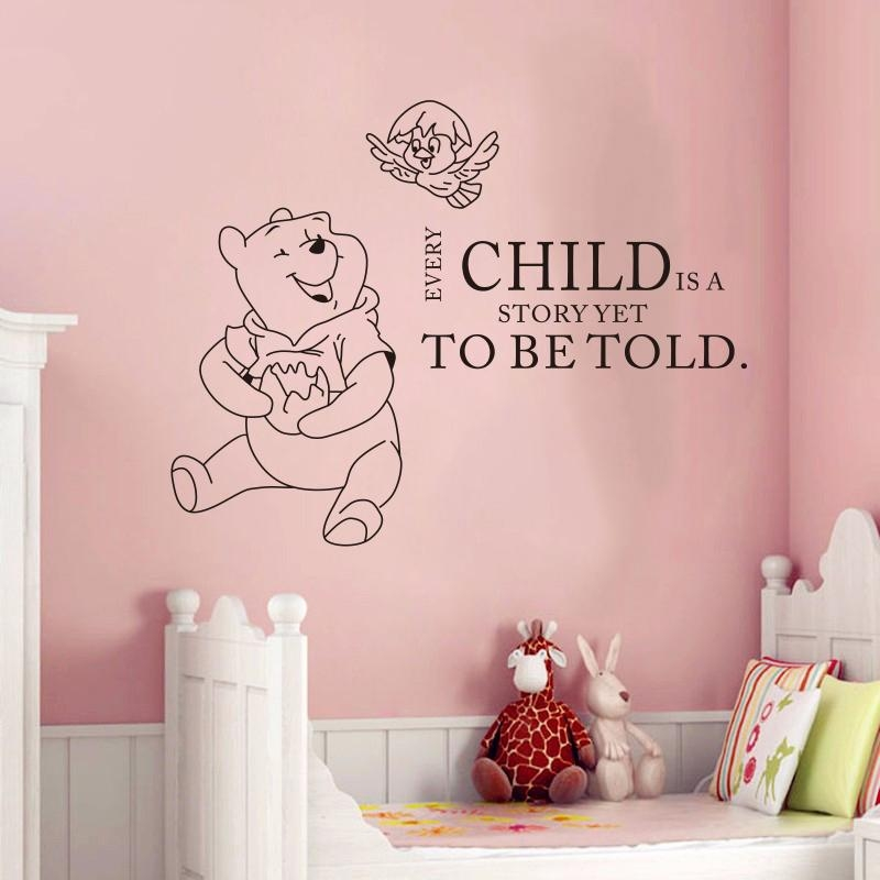 Compare Prices On Winnie Pooh Quotes Online Shopping/buy Low With Winnie The Pooh Vinyl Wall Art (View 5 of 20)