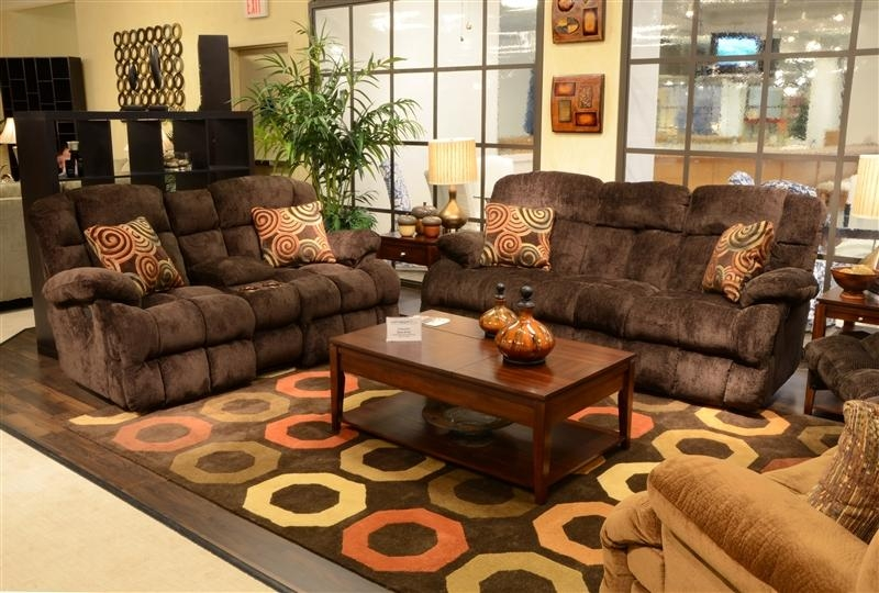 "Concord Power ""lay Flat"" Reclining Sofa In ""mahogany"" Color Fabric Inside Catnapper Sofas (Image 11 of 20)"
