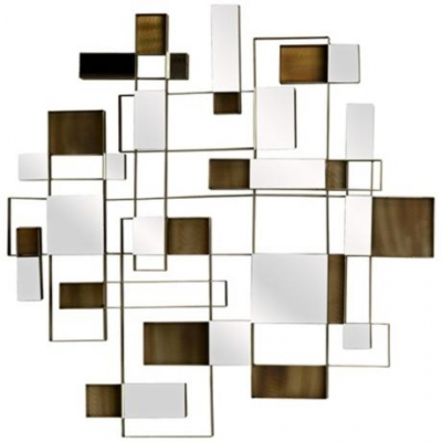 "Contemporary Angles 30"" Square Wall Art Mirror – Online Interior For Contemporary Mirror Wall Art (Image 8 of 20)"